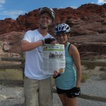 In September, Mark Bononi, director of the yacht division at MHG Insurance, and his fiancée, Jennifer Reaves, brought their Triton mountain biking in Red Rock Canyon, Nev., for Bononi's 40th birthday. Glad we could be there to help you celebrate.