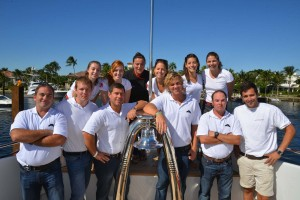 Sunday with yacht crew at Fort Lauderdale International Boat Show