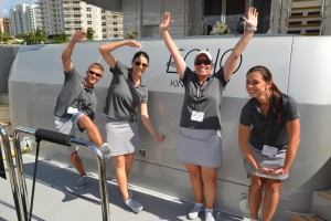 Yacht crew on Friday during Fort Lauderdale International Boat Show