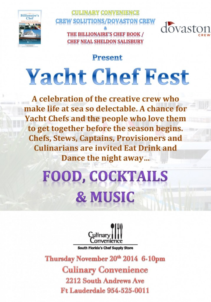 Yacht Chef Fest