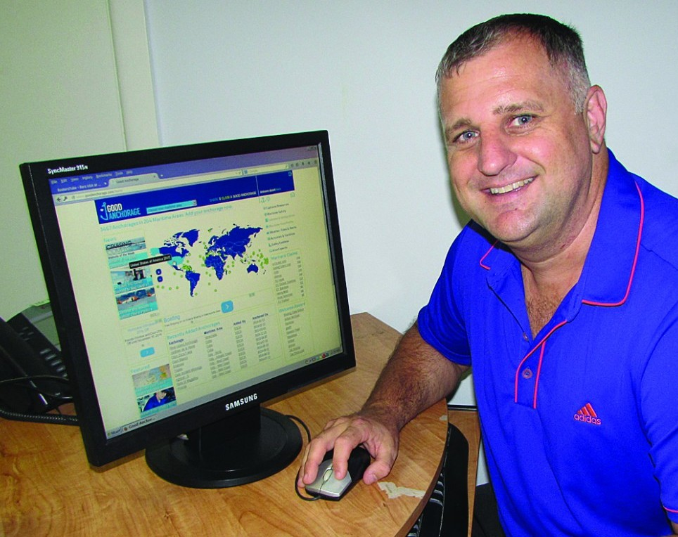 Inadequate charts led Capt. Todd Rapley to create a Web site for anchorages. PHOTO/DORIE COX