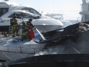 Fire destroys two yachts in Ft. Lauderdale