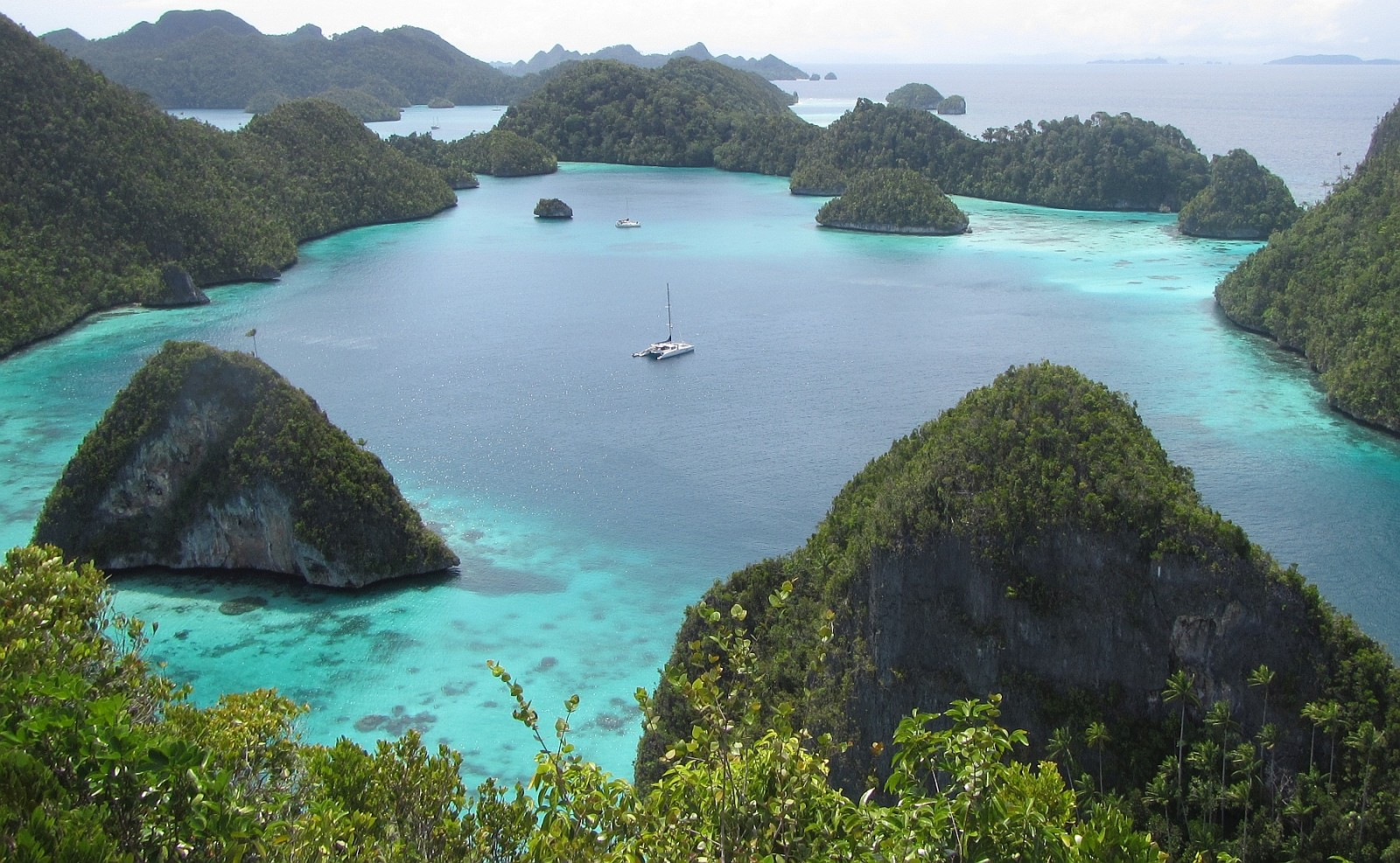 The Wayag Islands from the viewpoint, northern Raja Ampat.PHOTO by SUE HACKING