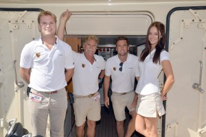 Saturday shots of crew at Yacht and Brokerage Show in Miami Beach