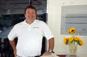 Capt. Brett Sussman of the 116-foot Azimut M/Y Happy Hour. Photo by Lucy Reed