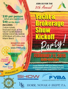 5th Annual Yacht and Brokerage Show Kick-off