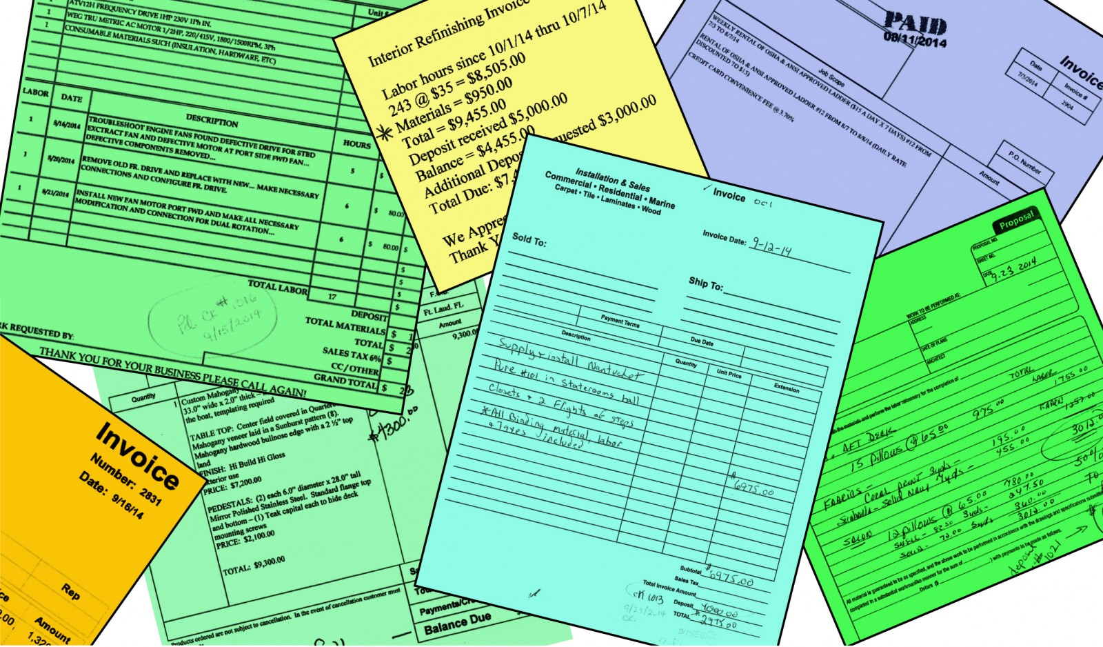 Captains Need Detailed Invoices To Keep Boss Boat Happy The Triton - Different types of invoices