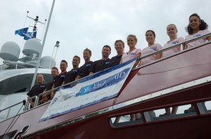 Yacht departs on three-year circumnavigation with good will, supplies