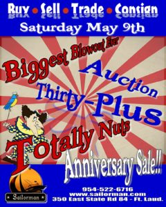 "Sailorman's ""Thirty Plus & Totally Nuts!"" Anniversary Extravaganza"