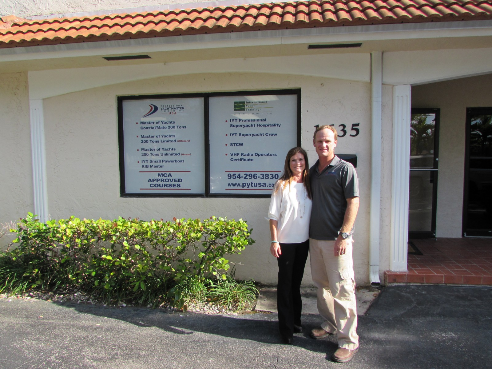 Tracy and Mark  Schwegman of Professional Yachtmaster Training USA opened a new office in Ft. Lauderdale in April. PHOTO BY MIKE PRICE