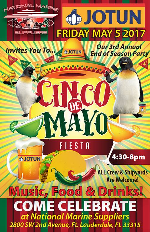 Yacht Crew Event For Cinco De Mayo With National Marine Suppliers