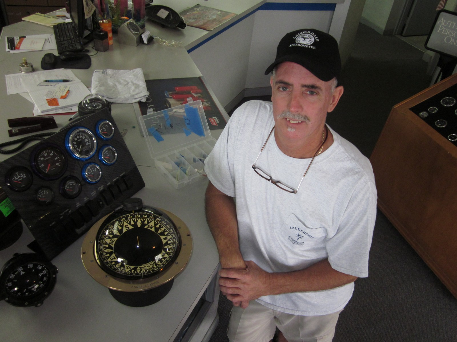 Jay Verkey, owner of Lauderdale Compass in Ft. Lauderdale. Photo by Dorie Cox