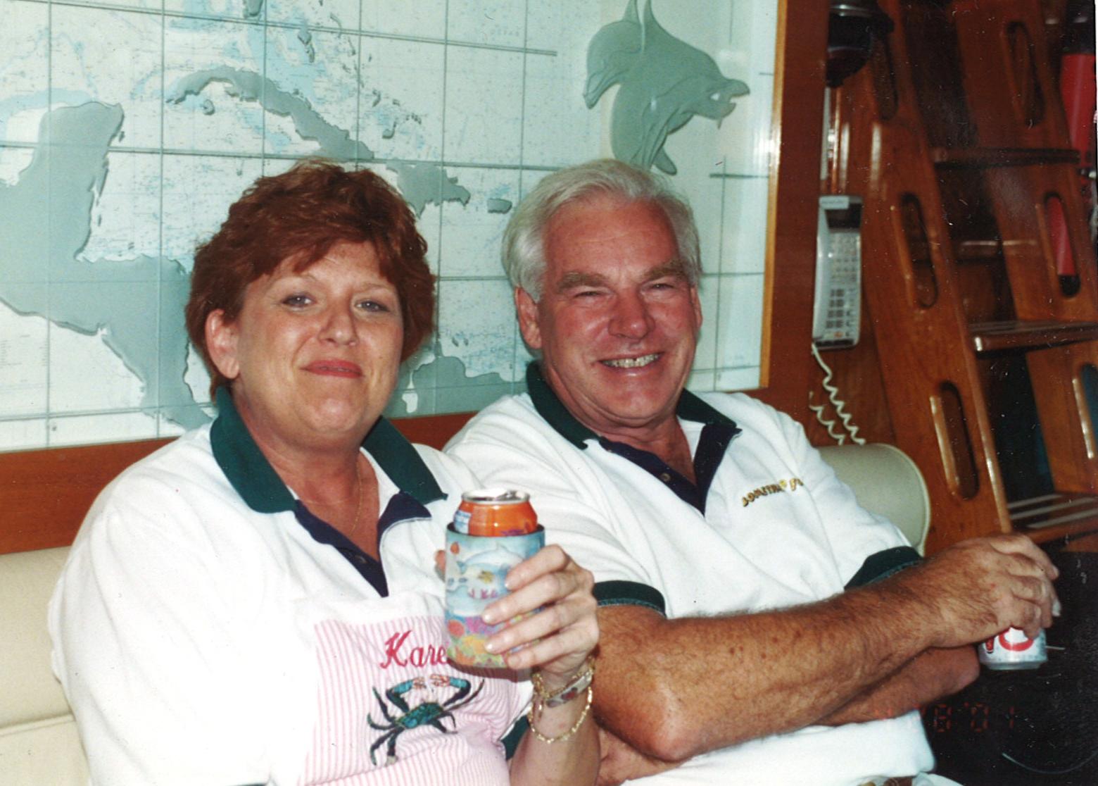 Captain Richard Betts with Karen Jan. PHOTO PROVIDED