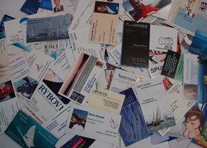 stock business cards
