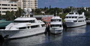 stock three large yachts