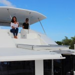Capt. Lance and boat owner Andrea in Miami. PHOTO PROVIDED BY SAILO