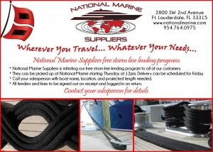 National Marine Suppliers offers free storm line lending program