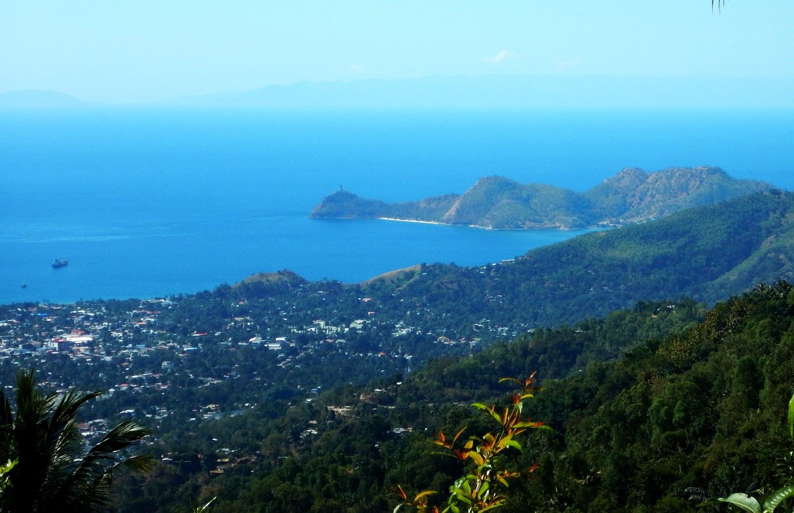 View of Dili Harbor from 1500 ft above town.
