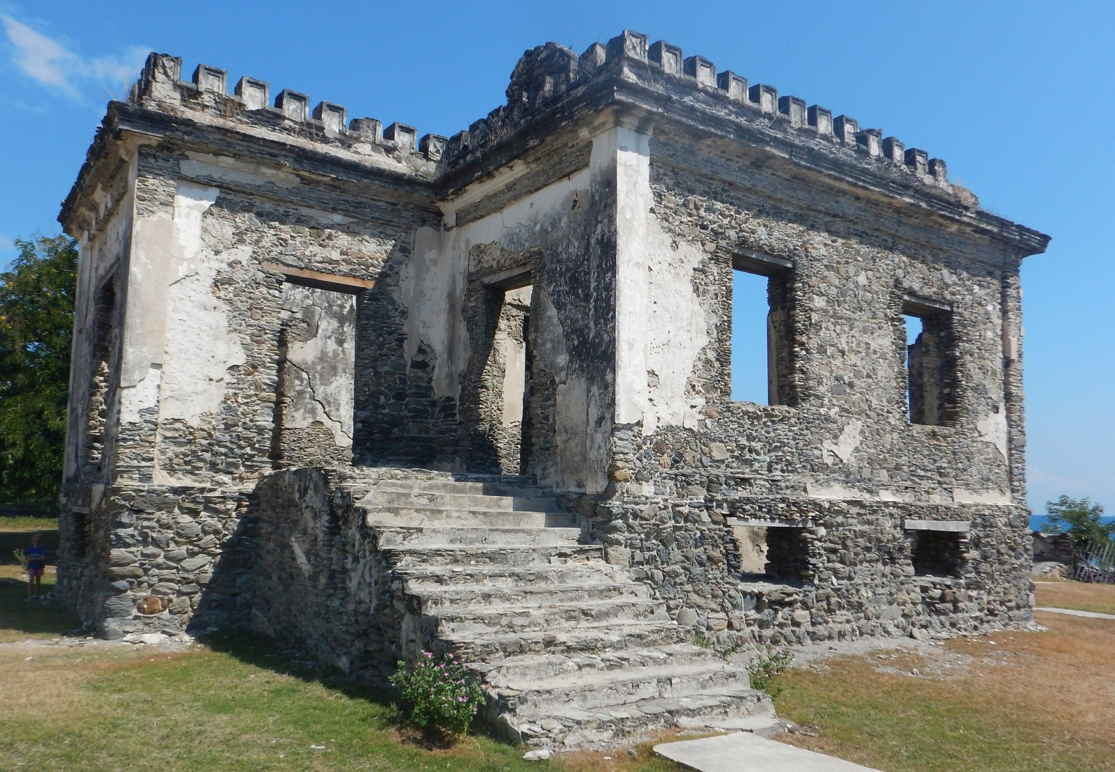 Ruins of a 1600's Portuguese prison where inmates were left to drown at high tide.
