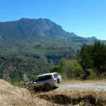 4WD fun on the rugged steep roads in Timor-Leste.