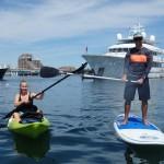 Hazel & Chef Davin Paddleboard in Newport