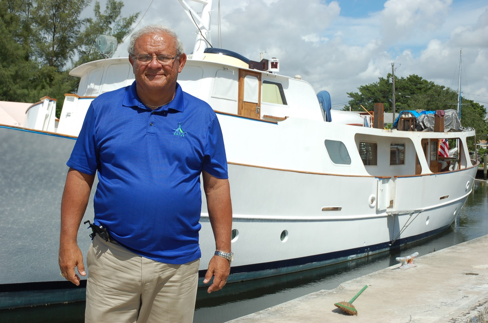 "Ismael ""Issy"" Perera, president of Apex Marine. Photo by Dorie Cox"