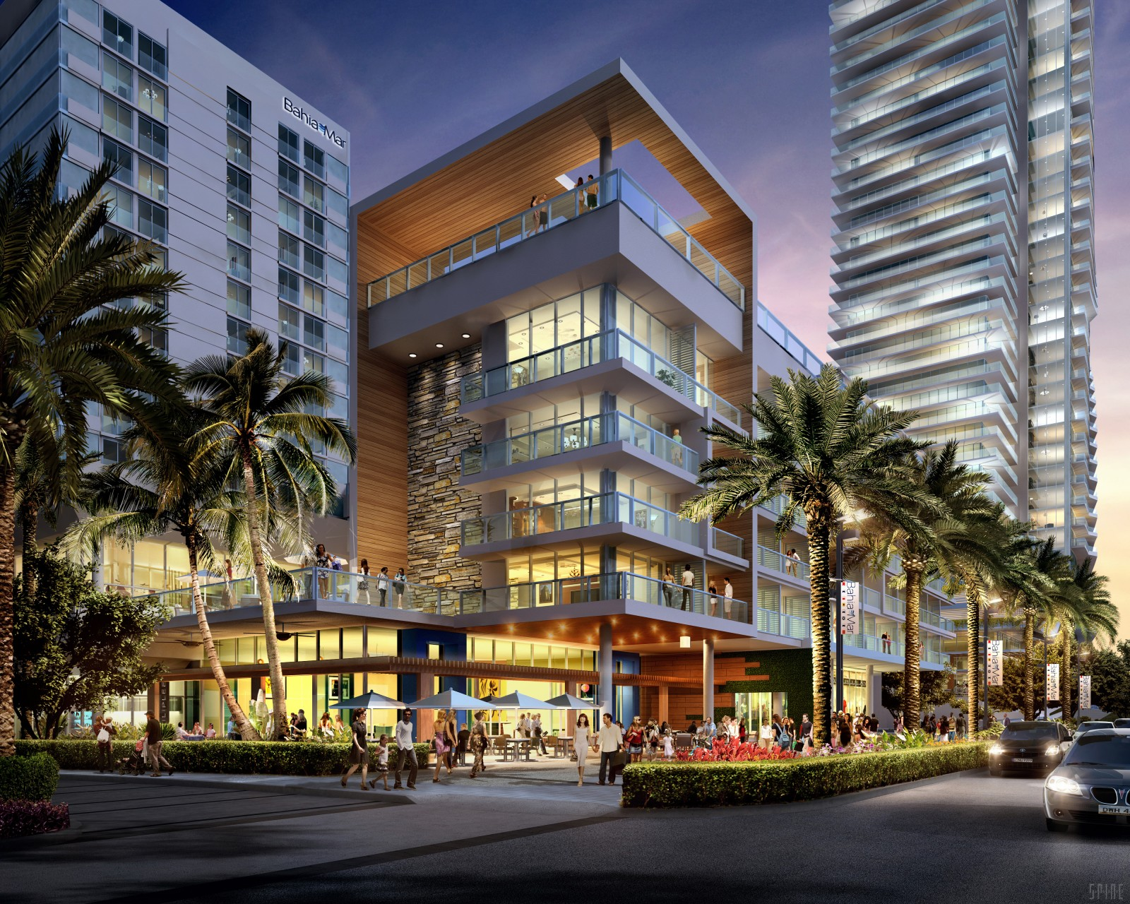 Drawings for proposed redevelopment of Bahia Mar.