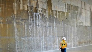 New Panama Canal lock leaks