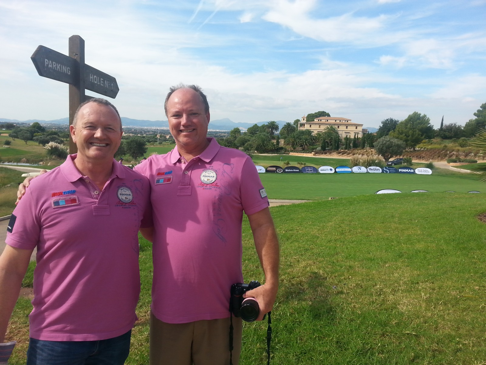 Peter Brown, managing director of Pinmar USA, and David Reed, Triton publisher, at the tournament began Oct. 16.