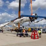 STP Shipyard Palma dismantles S/Y Kokomo's 82m mast