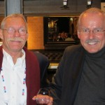 Mike Perkins (left) of Quantum Marine Engineering with friend Mike Blake of Palladium Technologies. PHOTO PROVIDED