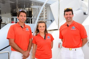 Yacht crew dress the part for opening day at Fort Lauderdale International Boat Show