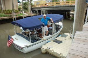 Former yacht captain, hydroplane racer, slows his speed with gondola tours