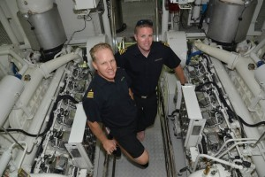 Scenes from the engine room at Fort Lauderdale International Boat Show