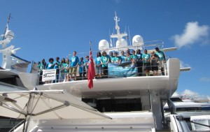 Middle school students tour yacht to learn about industry careers