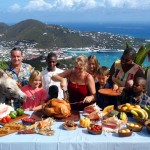 A low-calorie, high-nutrition Christmas with friends overlooking the Charlotte Amalie Harbor in St. Thomas, USVI. PHOTO/DEAN BARNES