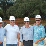 Quantum founder and owner John Allen, center, is surrounded by some of the veteran captains who supported and encouraged him to start Quantum Marine in 1985. From left, Capt. AJ Anderson, now owner of Wright Maritime Group; Capt. Guy O'Connor; Capt. Andy McKee of M/Y Pyewacket, and Capt. Bill Zinser of M/Y Cakewalk.
