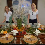 M/Y Polly – 2nd Stew Tamaryn Smith (l) and Samantha Curley, Chief Stew, used nature theme highlighted with pumpkins, corn and cinnamon aroma wafting through the air.