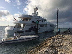 42m yacht runs aground in Bahamas this morning
