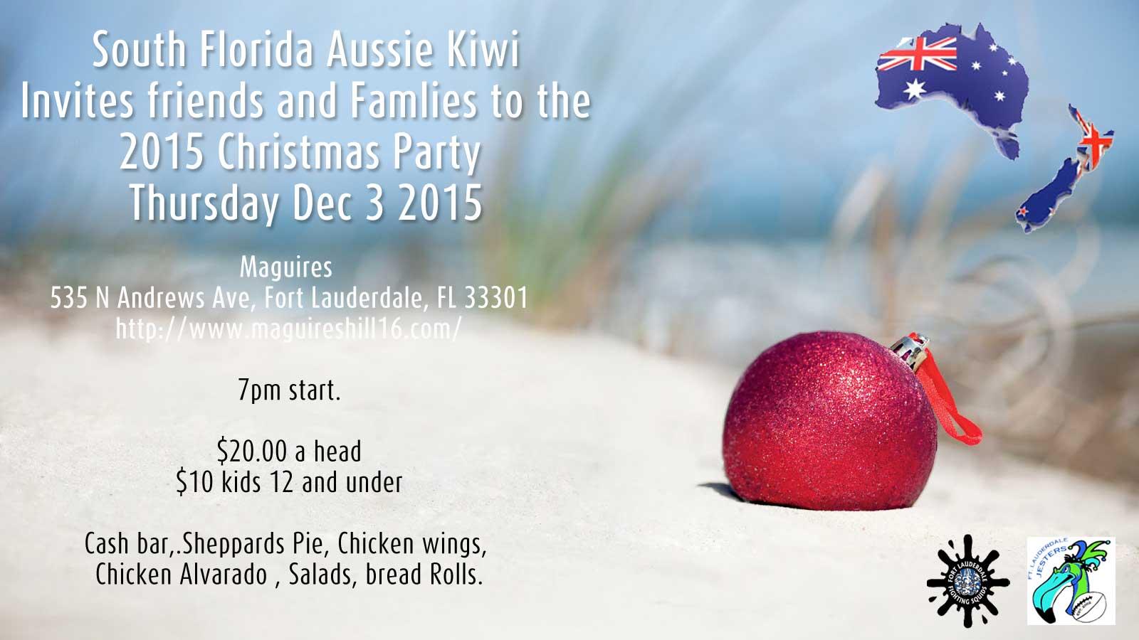 South Florida Aussie Kiwi Club Christmas Party