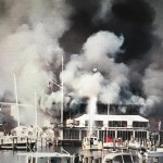Annapolis Yacht Club on fire this afternoon. Photos by Randy Walterhoefer