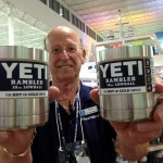 Ft. Lauderdale West Marine Boating Superstore sales associate Russ Kirby says the Yeti Ramblers and Lowball cups are selling faster than any product he has seen in three years. PHOTO/SUZETTE COOK