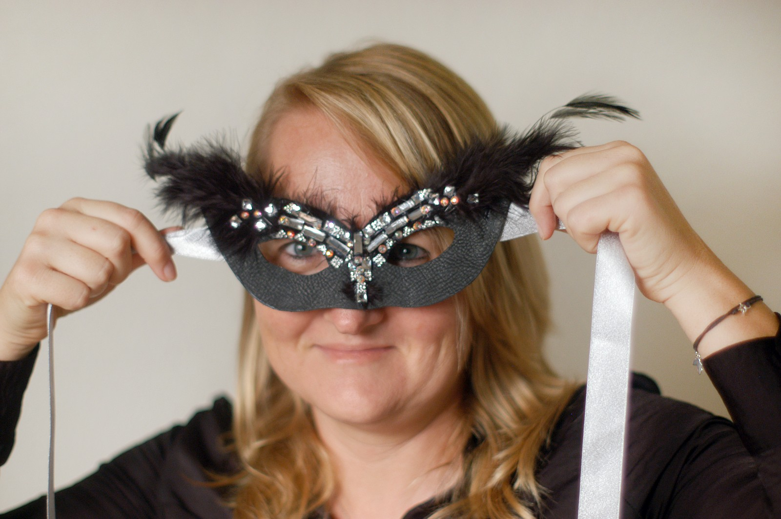 Stew Caroline von Broembsen creates handcrafted masks for masquerade balls and other events as a side career. PHOTO/SUZETTE COOK