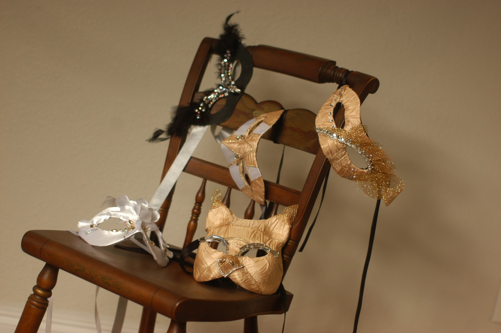 Stew Caroline von Broembsen creates handcrafted masks. PHOTO/SUZETTE COOK