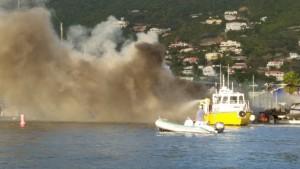 Boat fires in St. Maarten
