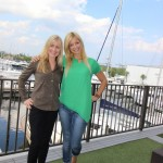 Jackie Guenther, yacht charter manager and crew placement and Jill Maderia with the crew division at Denison Yacht Crew