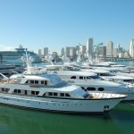 Many of the largest yachts at this year's Yachts Miami Beach are at Deep Harbour on Watson Island. PHOTO/DORIE COX