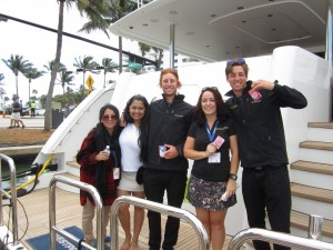 Yacht crew feel the love on Valentine's Day at Yachts Miami Beach