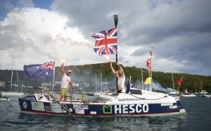 Yacht crew row 2,600 miles across the Atlantic