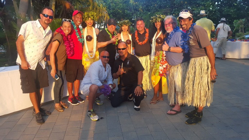 RJ Rewi, The Polynesia Guy, shared photos from a client appreciation party at Bahia Mar Marina on April 26.